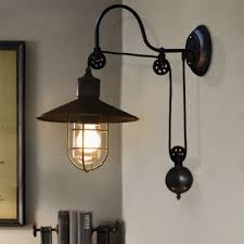 industrial farmhouse style 1 light adjustable led wall sconce in