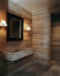 badezimmer steinboden altholzwand duschteil badezimmer