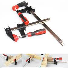 Quick Ratchet Release Speed Squeeze Woodworking Work Bar Clamp Clip Kit Spreader Gadget