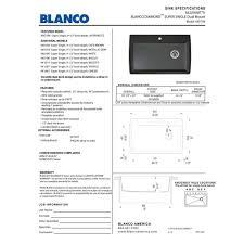 19 X 33 Drop In Kitchen Sink by Blanco 441467 Diamond Cinder Drop In Or Undermount Single Bowl