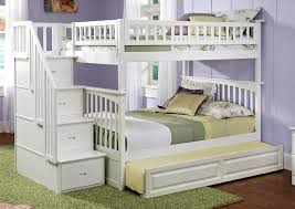 Bunk Beds With Stairs And Trundle Bedroom Furniture