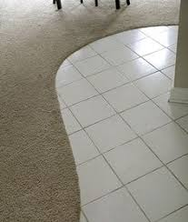 curved tile and carpet transition home living
