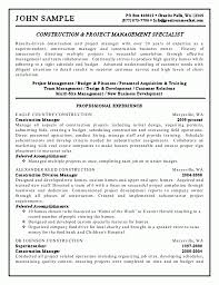 Resume Templates Construction Superintendent Cover Letter Sample Handyman Samples Objective Self Employed