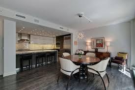 Grey Hardwood Floors Ideas Open Plan Dining Room Kitchen