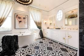 Master Bathroom Inspired By 1960s Vogue Cover Offers Ultimate In Feminine Appeal