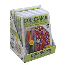 As Seen On TV Colorama Coloring Book Flower Paisleys Stained Glass And More