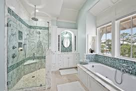 sea glass tiles bathroom contemporary with accent colors bath