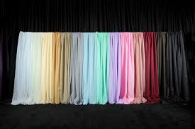Blue Crushed Voile Curtains by Event Draping Wedding Backdrop Curtains Event Décor Direct