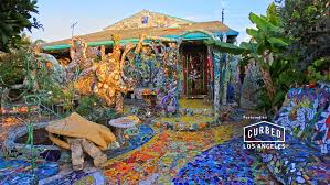 inside venice s one of a mosaic tile house curbed la