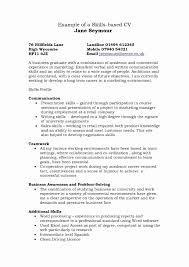 Culinary Arts Resume Template Lovely New