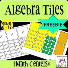 free algebra tiles by make sense of math teachers pay teachers