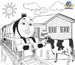 Printable Pictures Steam Train Express Gordon The Big Engine Cow On Line Thomas Colouring Pages