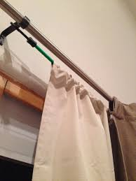 Bed Bath And Beyond Curtain Rod Brackets by Used Two 32 U0027 U0027 Bungee Cords To Hang The Ugly Thermal Drapes Behind