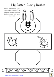 How To Draw A Rabbit For Easter And Basket