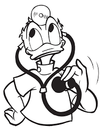 Doctor Donald Duck Coloring Page