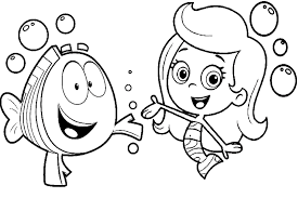 Bubbles And Guppies Coloring Pages