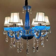 6 flammig kronleuchter blau vintage modern lüster