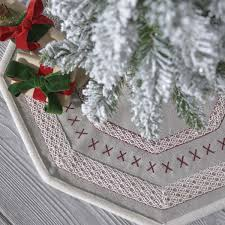 Pebble Grey Traditional Christmas Decor Liv Felt Appliqued Canvas