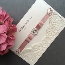 Handmade Wedding Invitations Ebay Uk Rectangle Potrait Cream Classy Luxury Invitation Lasercut