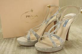 prada sandals prada strass crystal strappy platform sandals 40 5