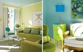blaue und grüne innendesings originelle farbenreiche