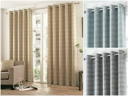 Ebay Curtains With Pelmets Ready Made by Braemar Check Tartan Striped Lined Ready Made Eyelet Curtain