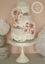 Vintage Lace Rose Wedding Cake