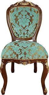 casa padrino barock esszimmer stuhl türkis braun gold antik