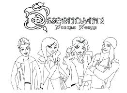 Descendants 2 Coloring Pages The Perfect Pic Familiar Free Printable