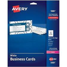 AveryR Print To The Edge Color Laser Business Cards