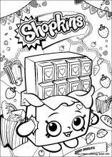 Shopkins Coloring Pages On Book