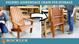 Folding Adirondack Chair Demonstration | Rockler Woodworking Project Fasteners Beach Chair Recling Arm Mechanism Woodworking Stack Outdoor Expressions Galveston Rocking Chair Rts005c Wabash Hdware Old Antique Solid Wood Folding With Curved Legs Forged Iron Seat Pew Early Ladder Stool Kitchen High Creative Portable Intertional Home Utuba Solid Eucalyptus Wood Buy Invisible Qbo White Colour In India From Benzoville Gymax Foldable Professional Artist Directors Light Pair Of Handstitched Chairs Brass Gtlemens Quarters Vintage Upcycled Leather Set 4 Midcentury Victorian Recling