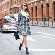 High Street Fashion Women Autumn Winter Striaght Long