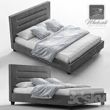 3d models bed baxton studio hillary upholstered platform bed