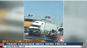 100 Truck Crashes Caught On Tape Train Crashing Into Semitruck In California Caught On Video