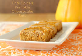 Pumpkin Swirl Cheesecake Bars by Chai Spiced Pumpkin Cheesecake Bars A Kitchen Addiction
