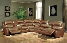 Bobs Furniture Leather Sofa Recliner leather sectional sofas with recliners brown and bonded modern