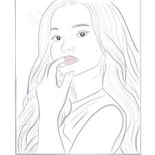 Dove Cameron Eye Color Coloring Pages Online Mandala Photo And Video On N