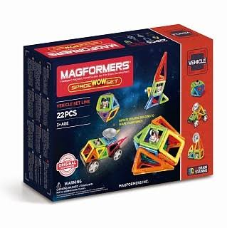 Magformers Space Wow Set Children's Magnetic Vehicle Construction Playset - 22pc