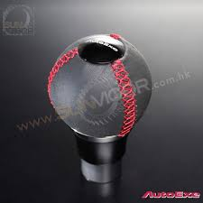 2016 Miata ND A T AutoExe Leather Spherical Shift Knob with red