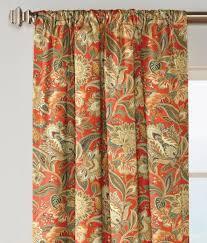 Jacobean Floral Design Curtains by Paisley Jacobean Lined Rod Pocket Curtains Country Curtains