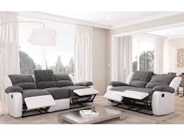 canapes 3 places ensemble de canapés relaxation 3 places et 2 places microfibre