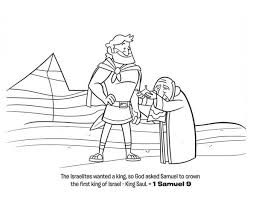 The First King Of Israel Is Saul Coloring Page