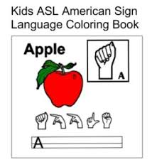 Kids ASL American SIGN LANGUAGE Coloring Book Flash Cards Ebook