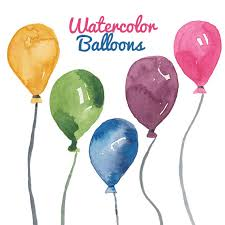 Watercolor Balloon clipart birthday party clip art Balloons graphics printable birth day parties