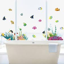 wandtattoo wandsticker fische wandbild badezimmer aquarium