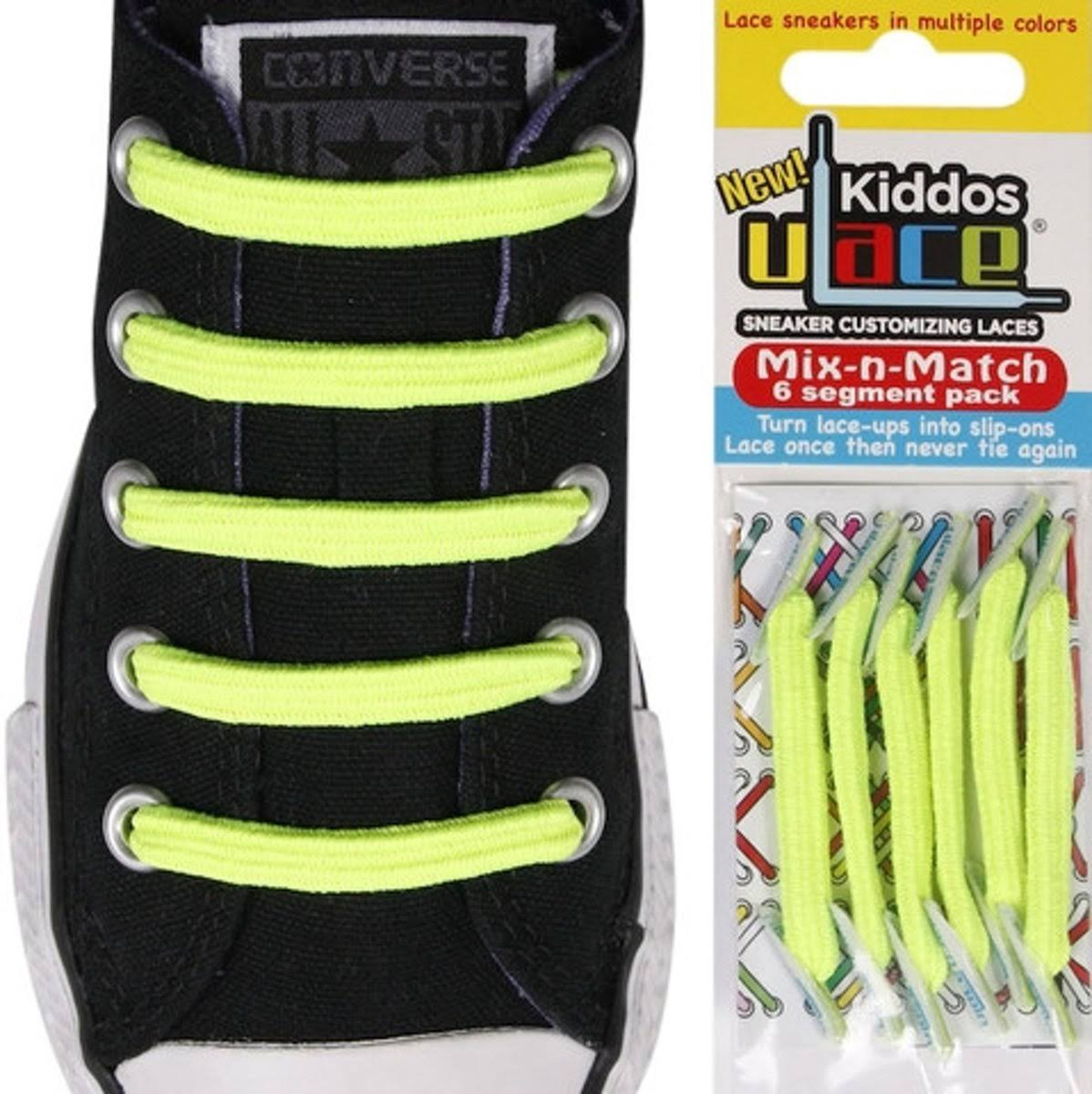 U Lace Kiddos Mix N Match - Neon Yellow
