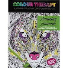 Colour Therapy Amazing Animals Anti Stress Coloring Book