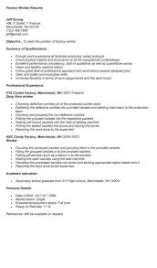 Endearing Sample Resume Factory Worker Job With Of Swarnimabharath Org Rh Objective