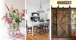 Country Living Dining Room Ideas by 25 Ways To Add Farmhouse Style To Any Home Rustic Country Home